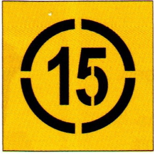 15km In Circle Stencil