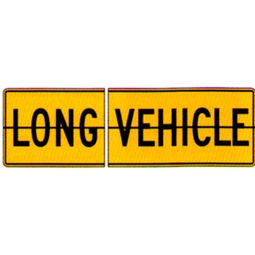 2 Piece Long Vehicle Sign