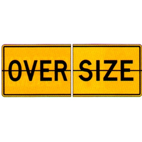 2 Piece Over Size Sign