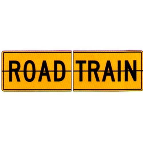2 Piece Road Train Sign