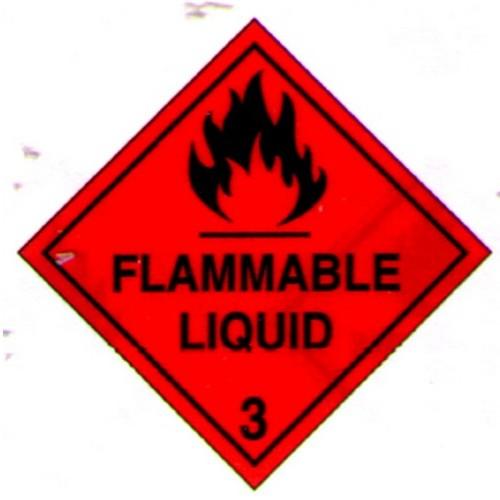 3 Flammable Liquid Sticker