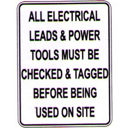 All Electric Leads Sign