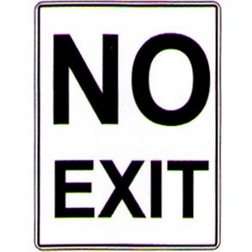 Aluminium No Exit Sign
