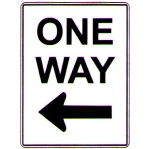 Aluminium One Way Left Arrow Sign
