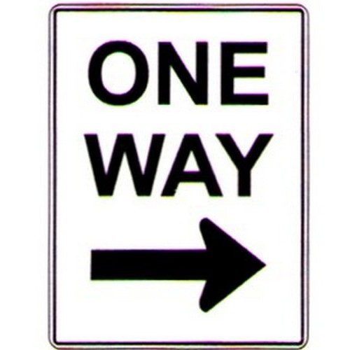 Aluminium One Way Right Arrow Sign