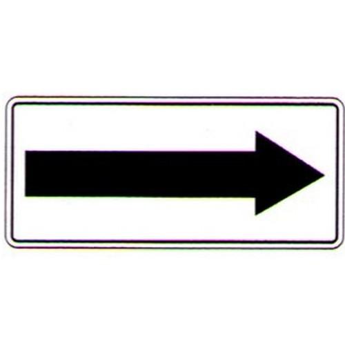 ArrowBlack-On-White-Sign