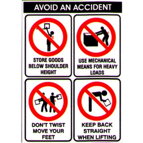 Avoid An Accident 4 Symbols Poster