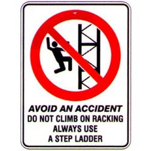 Avoid-Climb-On-Racking-Sign
