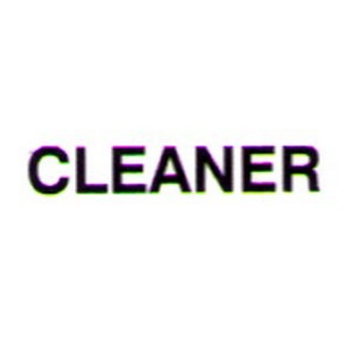 Black Vinyl CLEANER Door Label