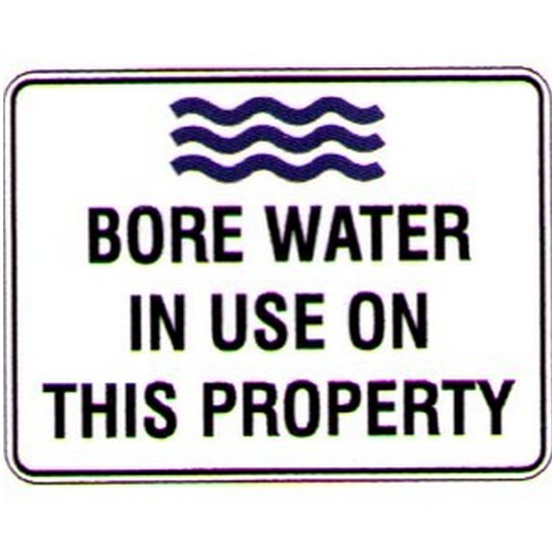 Bore Water In Use On This Prop Sign