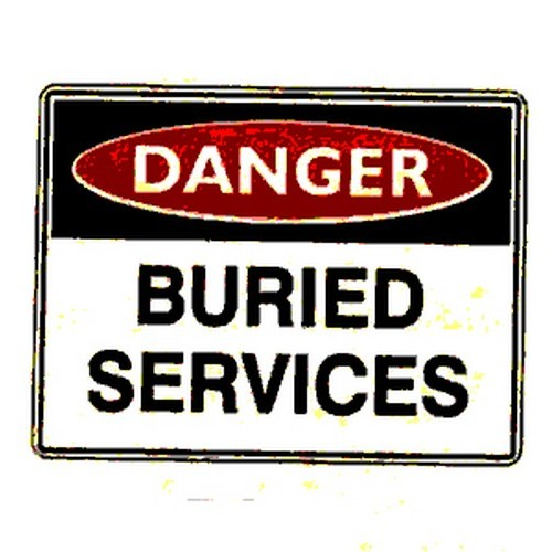 Danger Buried Services Sign