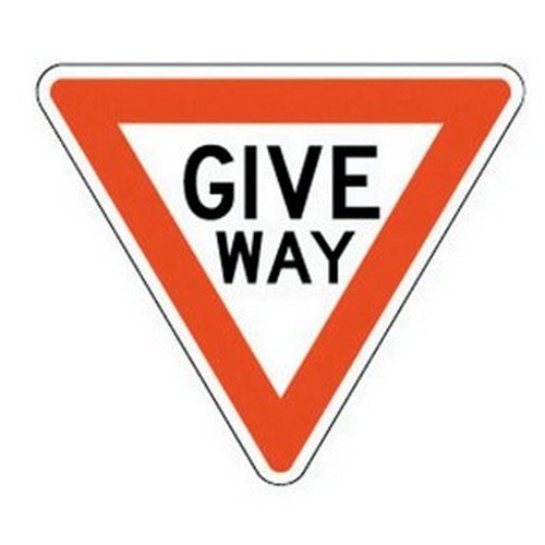 Class 1 Give Way Sign 900mm