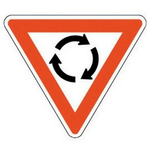 Class 1 Roundabout Sign 750mm