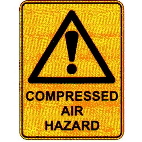 Warn Compressed Air Haz Sign