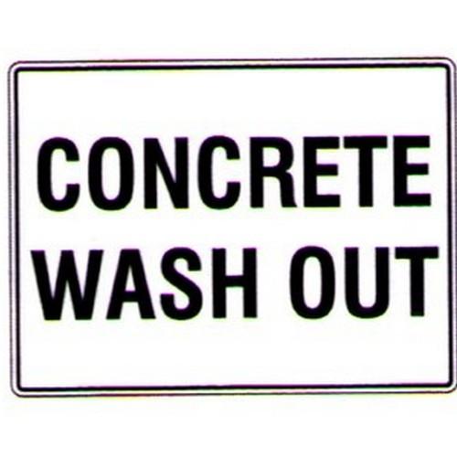 Concrete Wash Out Sign