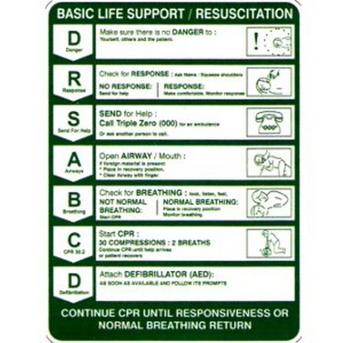 Cpr Drsabcd Life Sup Sign