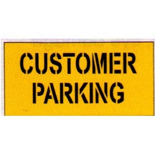 Customer Parking Car Park Stencil