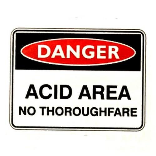 Danger Acid Area No Sign