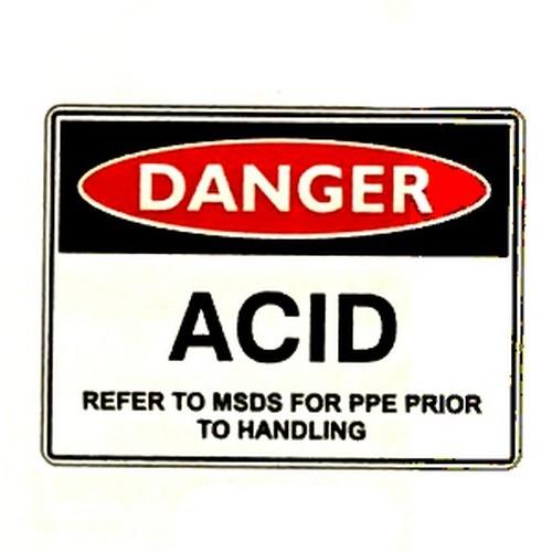 Danger Acid Refer Handling Sign