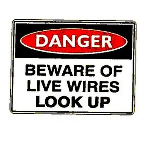 Danger Beware Of Live Wires Labels