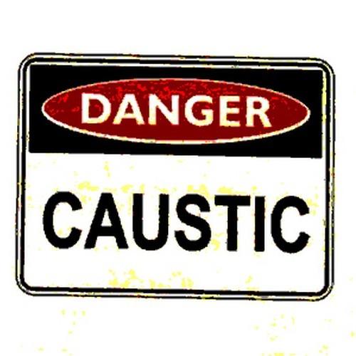 Danger Caustic Sign
