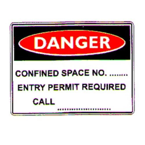 Danger Confined Space No Sign