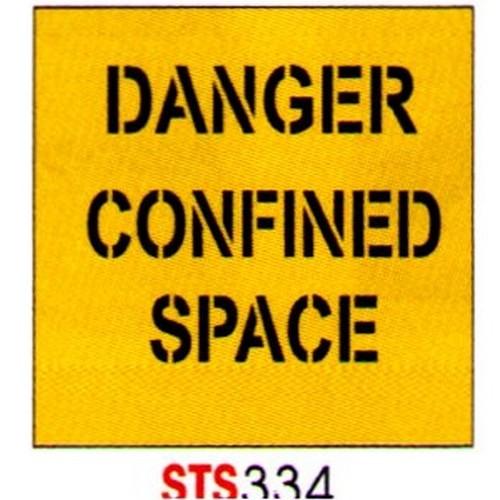 Danger Confined Space Stencil