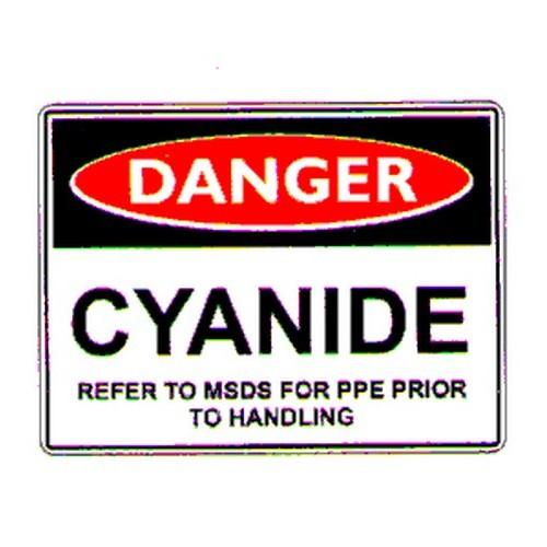 Danger Cyanide Refer Handling Sign