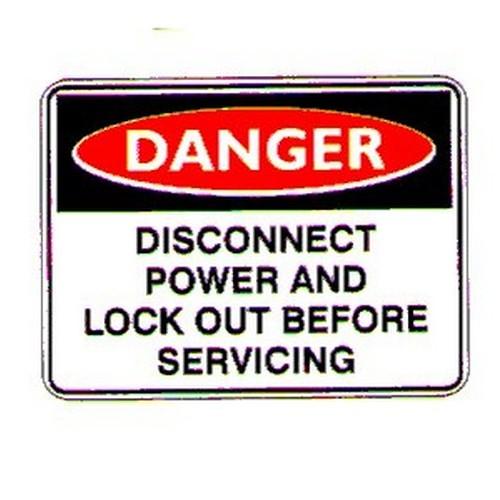 Danger DisPower Lockout Sign
