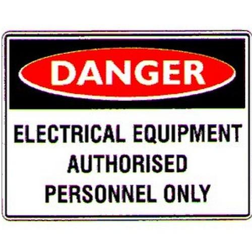 Danger Electrical Equip  Labels