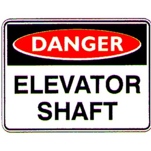 Danger Elevator Shaft Sign