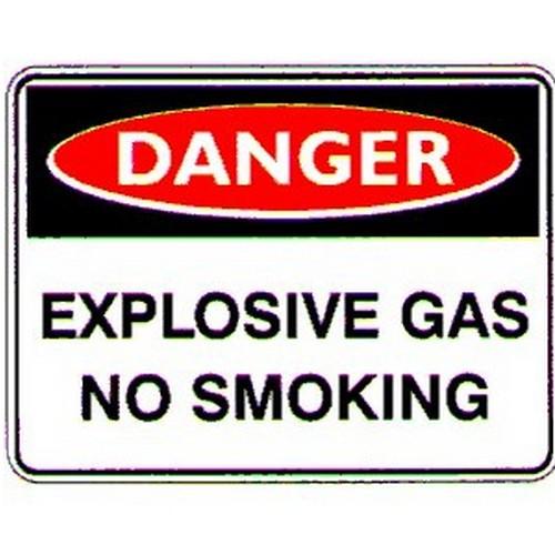 Danger Explosive Gas No Smokng Sign