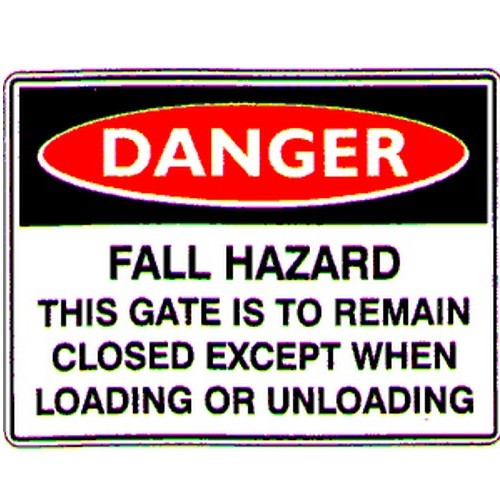 Danger Fall Hazard Sign