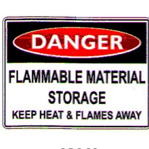 Danger Flam Mat Sign