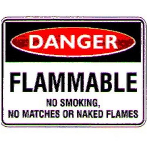Danger Flammable No Smoke Sign