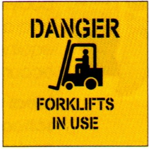 Danger Forklifts In Use Stencil