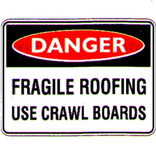 Danger Fragile Roofing Sign