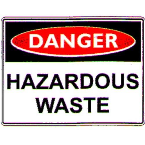 Danger Hazardous Waste Sign