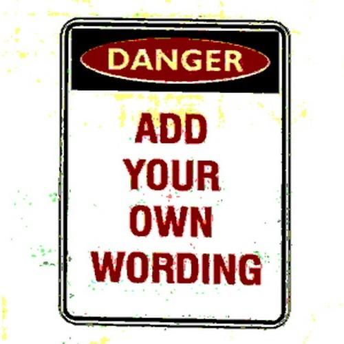 Danger Header PTrait Sign