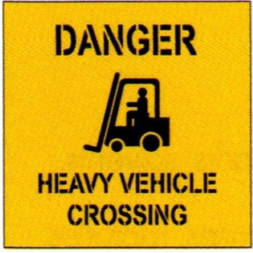 Danger Heavy +Symbol Stencil