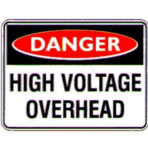 Danger High Voltage OHead Sign