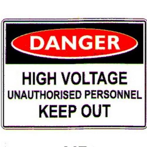 Danger High Voltage Unauth Labels