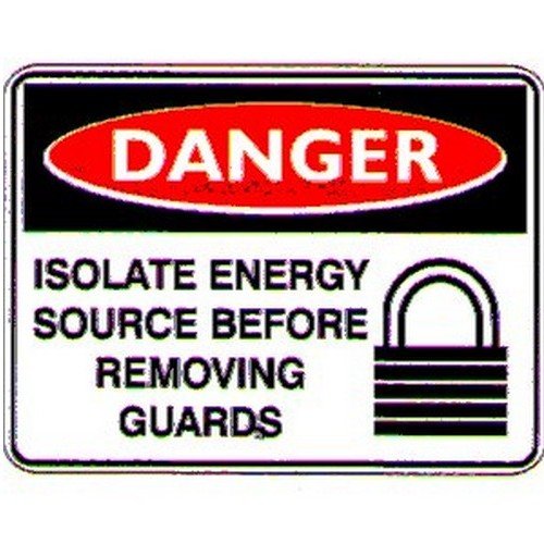 Danger Isolate SOURCE  Sign