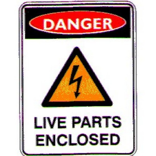 Danger Live Parts Enclosed Labels