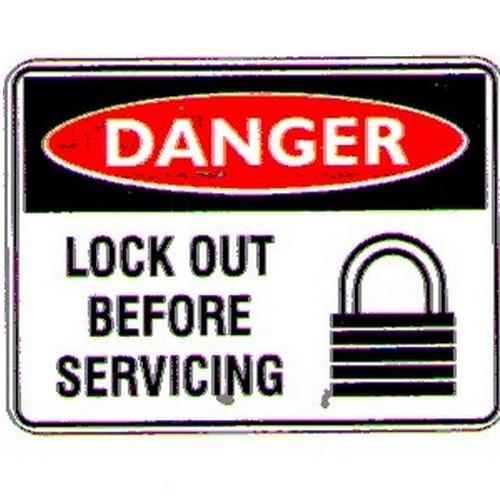 Danger Lockout Servicing Sign