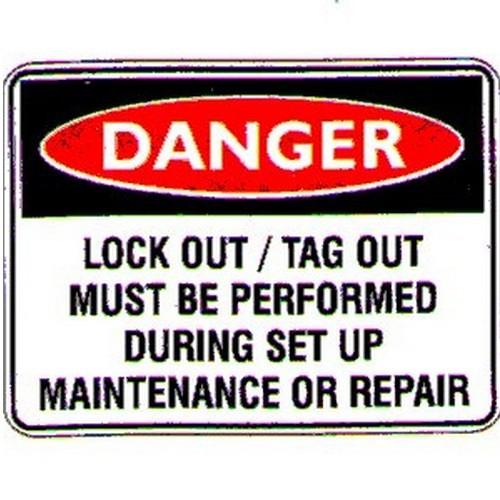 Danger LockoutTagout Sign