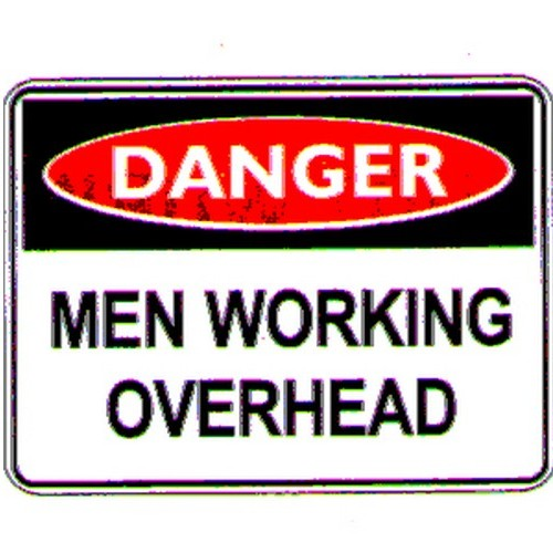 Danger Men Working OHead Sign