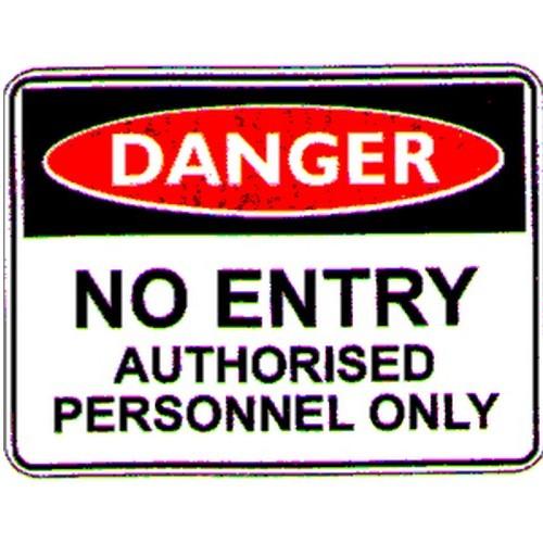 Danger No Entry Auth Labels