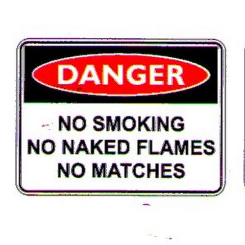Danger No Smoke flames Sign