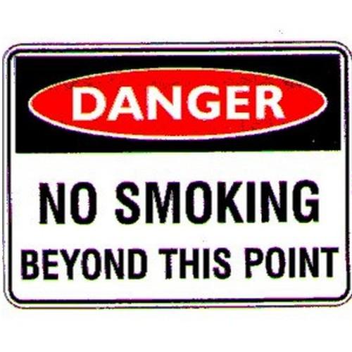 Danger-No-Smoking-Beyond-Sign